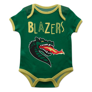 Alabama At Birmingham Green Solid Short Sleeve Onesie