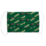 Alabama At Birmingham Blazers Face Mask Green UAB - Vive La Fête - Online Children's Apparel
