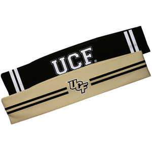 Central Florida Gold And Black Stripes Headband Set