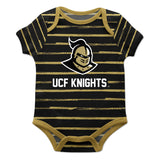Central Florida Stripe Black and Gold Boys Onesie SS