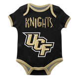 Central Florida Black Solid Short Sleeve Onesie