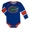 Florida Stripes Blue Long Sleeve Onesie - Vive La Fête - Online Apparel Store