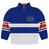 Florida Logo Stripes Blue Long Sleeve Quarter Zip Sweatshirt - Vive La Fête - Online Children's Apparel