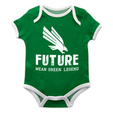 North Texas Solid Green Boys Onesie Short Sleeve