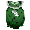 North Texas Stars Green Girls Sleeveless Onesie - Vive La Fête - Online Children's Apparel