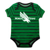 North Texas Stripe Green and Black Boys Onesie Short Sleeve