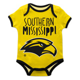 Southern Mississippi Gold Solid Short Sleeve Onesie - Vive La Fête - Online Children's Apparel