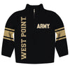 United States Military Academy Stripes Black Long Sleeve Quarter Zip Sweatshirt