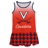 Virginia Cavaliers Degrade Orange Sleeveless Lily Dress - Vive La Fête - Online Children's Apparel