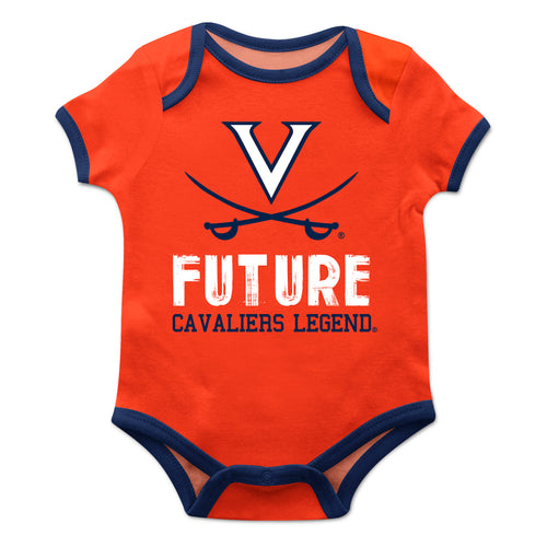 Virginia Cavaliers Solid Orange Boys Onesie SS