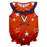 Virginia Cavaliers Stars Orange Girls Sleeveless Onesie