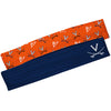 Virginia Cavaliers Navy Solid And Orange Repeat Logo Headband Set - Vive La Fête - Online Children's Apparel