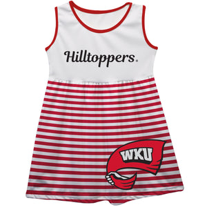 Western Kentucky Big Logo Red And White Stripes Tank Dress
