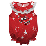 Western Kentucky Stars Red Girls Sleeveless Onesie - Vive La Fête - Online Apparel Store