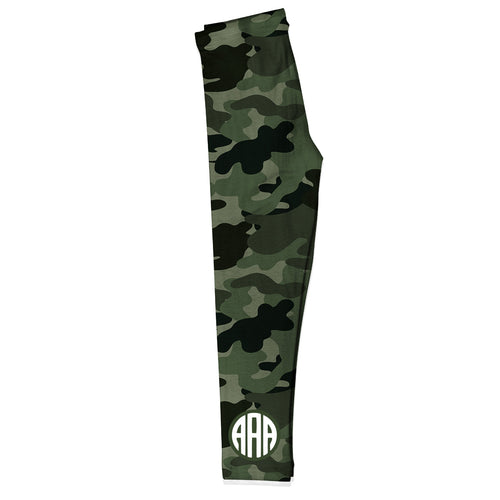Camouflage Monograms Green Leggings