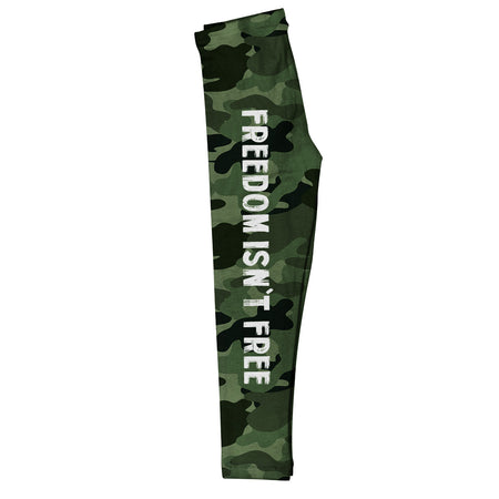 Word America Flag Green Leggings