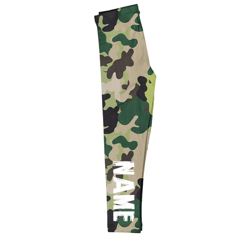 Name Camouflage Green Leggings