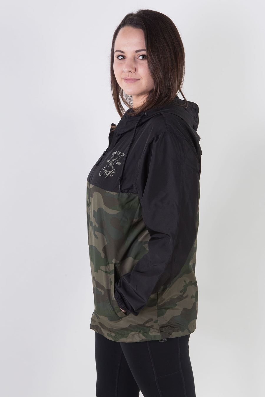 Bottle x Opener Windbreaker-Black/Camo