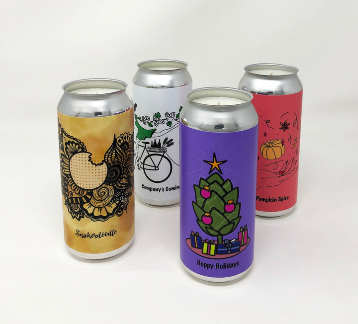 Tall Can 4-Pack Candle Set