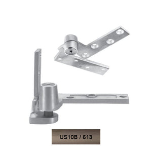 Rixson 195 LH 613 Jamb Mounted 3/4 Offset Pivot Set Oil Rub Bronze Finish Door Weighing Up To 450 LBS - Rixson Pivots