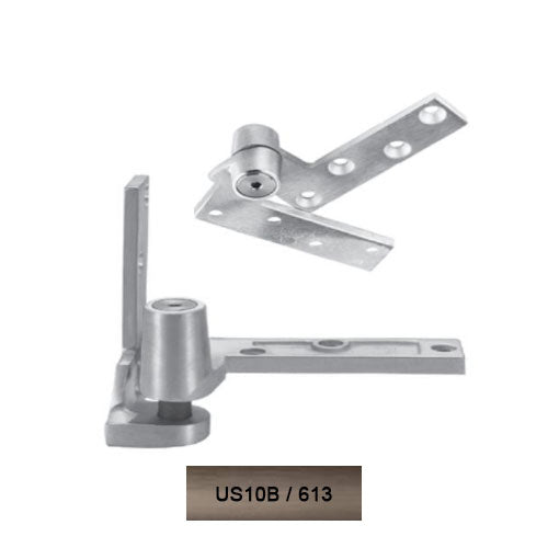 Rixson 195 RH 613 Jamb Mounted 3/4 Offset Pivot Set Oil Rub Bronze Finish Door Weighing Up To 450 LBS - Rixson Pivots