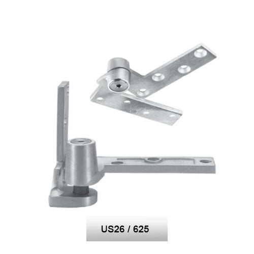 Rixson 195 LH 625 Jamb Mounted 3/4 Offset Pivot Set Polish Chrome Finish Door Weighing Up To 450 LBS - Rixson Pivots