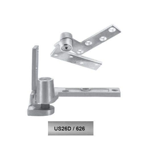 Rixson 195 LH 626 Jamb Mounted 3/4 Offset Pivot Set Satin Chrome Finish Door Weighing Up To 450 LBS - Rixson Pivots