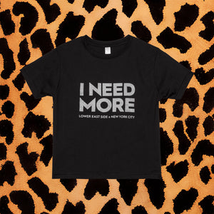 I NEED MORE KIDS T-SHIRT (BLK/SLVR) - I NEED MORE
