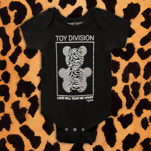 JOY DIVISION 'TOY DIVISION' KIDS ONESIE (BLACK)