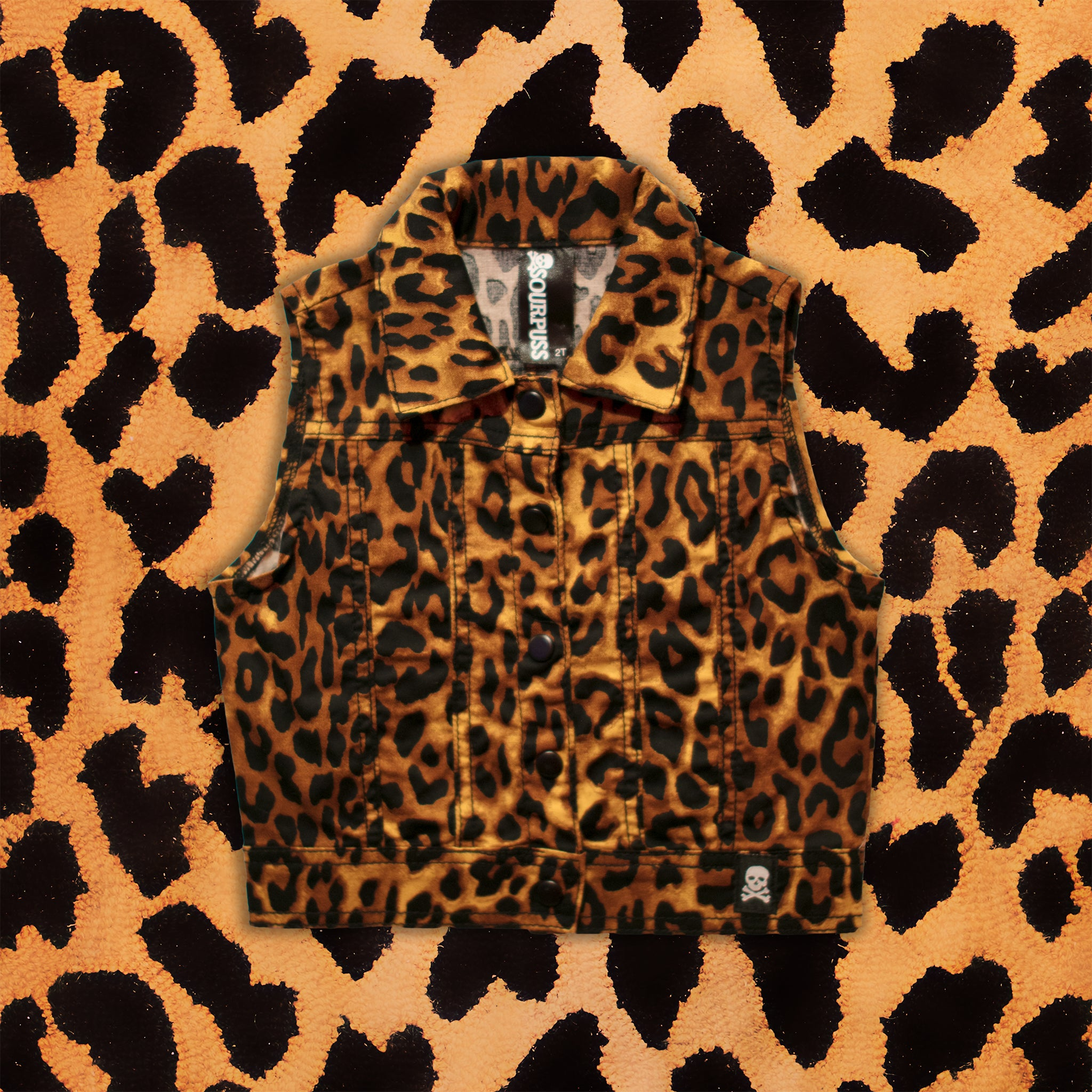 'LITTLE PUNK' KIDS VEST (LEOPARD)