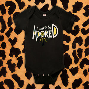 THE STONE ROSES 'I WANNA BE ADORED' KIDS ONESIE (BLACK)