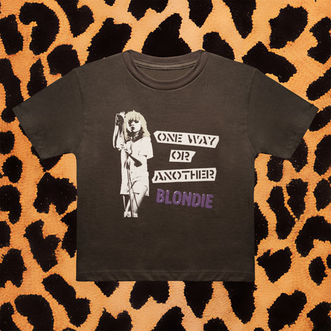 "BLONDIE ""ONE WAY OR ANOTHER"" KIDS T-SHIRT (GREY)"