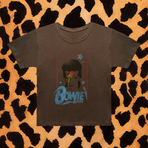 "DAVID BOWIE ""1973 RELIC"" KIDS T-SHIRT (GREY)"