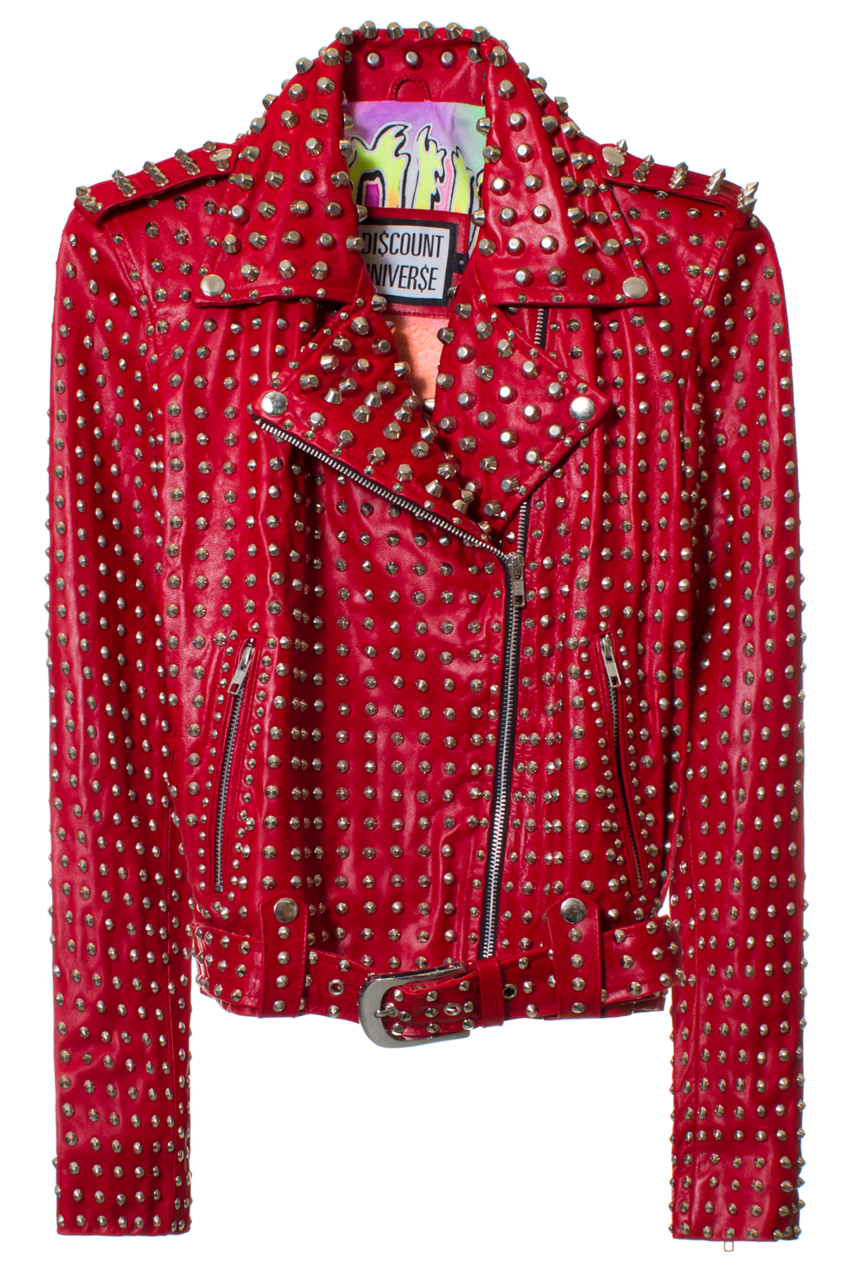DISCOUNT UNIVERSE MOTO STUDDED JACKET