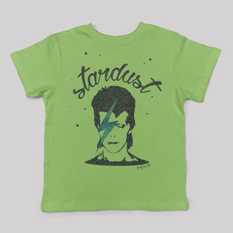 DAVID BOWIE 'STARDUST' KIDS T-SHIRT (GREEN)