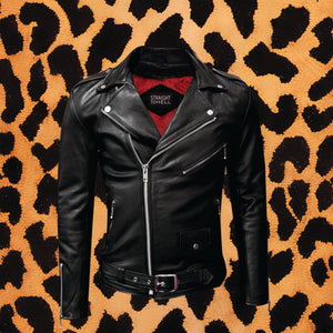 STRAIGHT TO HELL LONG 'COMMANDO' MENS BLACK NICKEL LEATHER JACKET