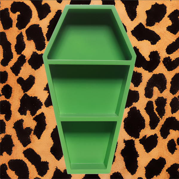 GREEN COFFIN SHELF