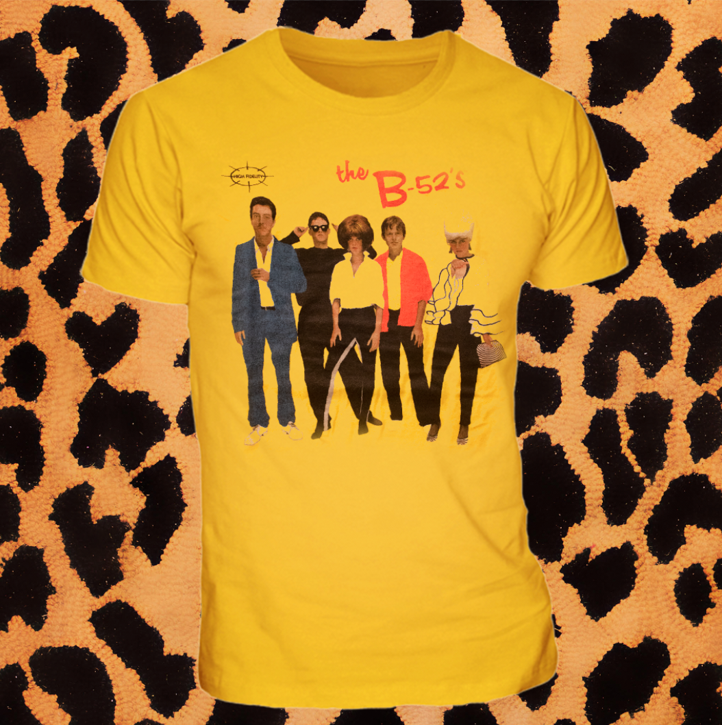 """THE B-52s"" ALBUM COVER TSHIRT (UNISEX)"