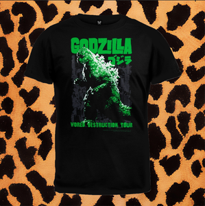 "GODZILLA ""WORLD DESTRUCTION TOUR"" T-SHIRT (UNISEX)"