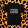 MENS I NEED MORE T-SHIRT (BLK/SILVER)