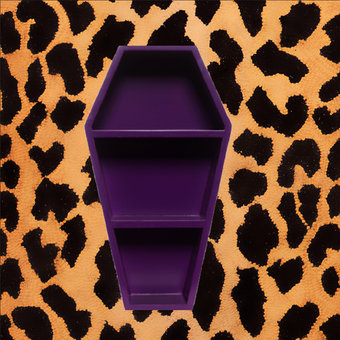PURPLE COFFIN SHELF