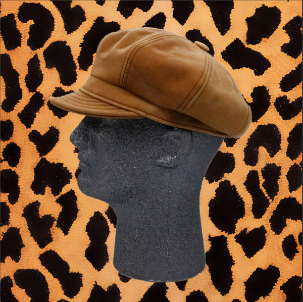 TAN LEATHER SPITFIRE HAT