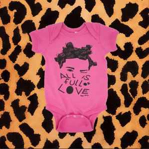 "BJORK ""ALL IS FULL OF LOVE"" ONESIE (PINK)"