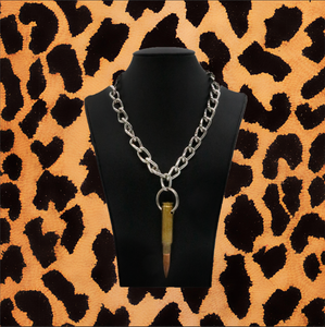 BULLET CHAIN NECKLACE (BRASS)