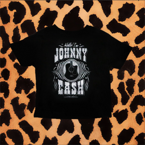 """HELLO I'M JOHNNY CASH"" GUITAR KIDS TEE"
