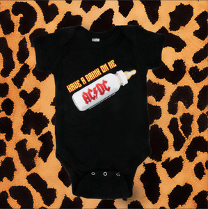 "AC/DC ""DRINK ON ME"" KIDS ONESIE (BLACK)"