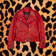 "STRAIGHT TO HELL ""COMMANDO"" BLOOD RED LEATHER JACKET (WOMEN'S)"