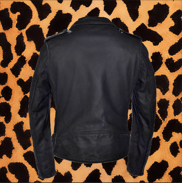 "SCHOTT ""VINTAGED"" LEATHER JACKET (MENS)"
