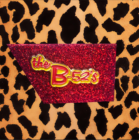 THE B-52'S ENAMEL PIN (RED/YELLOW)