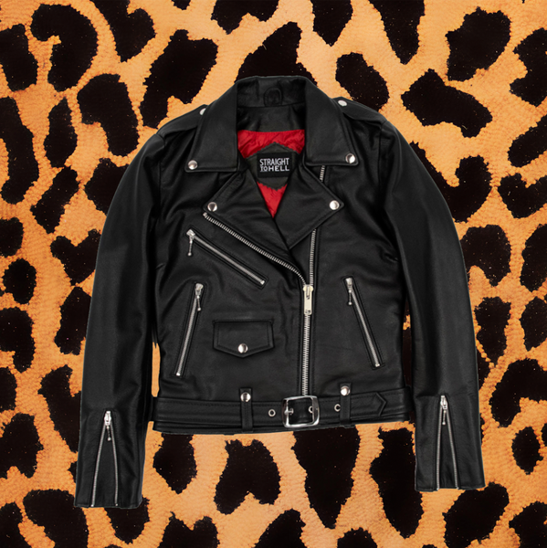 "STRAIGHT TO HELL ""COMMANDO""  CLASSIC FIT LEATHER JACKET (WOMENS)"